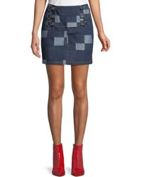 Opening Ceremony - Patched Tab Straight Denim Skirt - Lyst