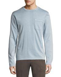 Vince - Men's Single-pocket Long-sleeve T-shirt - Lyst