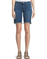 Joe's Jeans - Finn Raw-edge Denim Bermuda Shorts - Lyst