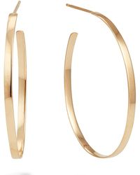 Lana Jewelry - 14k Gold 30mm Flat Mega Oval Hoop Earrings - Lyst