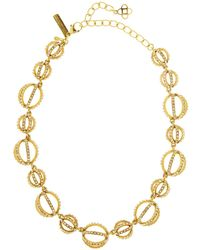 Oscar de la Renta - Crystal Pavé Globe Necklace - Lyst