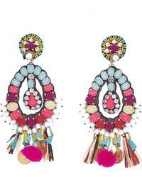 Ranjana Khan - Beaded Charm Clip-on Earrings - Lyst
