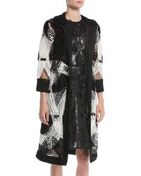 Naeem Khan - Open-front Embroidered Coat - Lyst