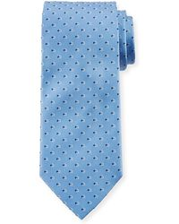 Ferragamo - Gancini Dot Silk Tie - Lyst