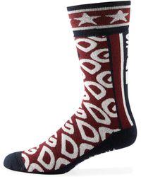 Dolce & Gabbana Men's Dg Logo Mania Socks - Red