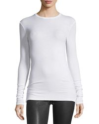 ATM - Long-sleeve Crewneck Jersey Top - Lyst
