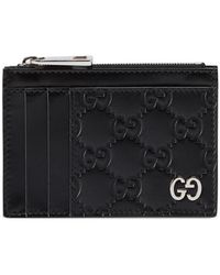 Gucci - Men's GG Embossed Zip Card Case - Lyst