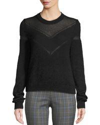 Rag & Bone Blaze Crewneck Pullover Sweater - Black