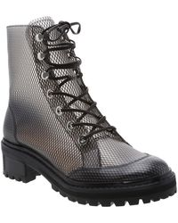 Schutz - Elisangela Mesh Lace-up Boots - Lyst