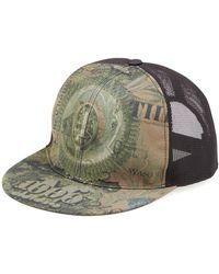 Givenchy Dollar-print Flat-billed Hat Olive - Green