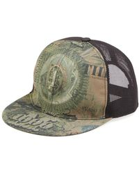 Givenchy Dollar-print Flat-billed Hat - Green