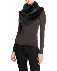 Gushlow and Cole Split Toscana Fur Scarf - Black