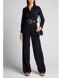 Gabriela Hearst Well Silk-cashmere Jumpsuit - Blue
