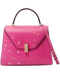 Valextra - Iside Floral-print Leather Satchel Bag - Lyst