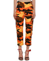 Off-White c/o Virgil Abloh Camouflage Cotton Ripstop Cargo Pants - Orange