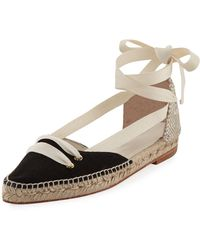 Castaner - Colorblock Ankle-wrap D'orsay Espadrille - Lyst