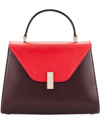 Valextra - Iside Medium Colorblock Calf Leather Top-handle Bag - Lyst