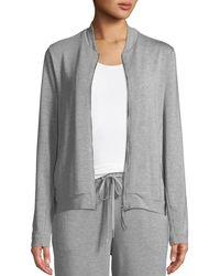 Hanro Balance Zip-front Lounge Jacket - Gray