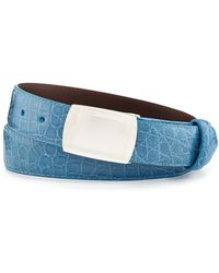 W. Kleinberg | Glazed Alligator Belt With Plaque Buckle | Lyst