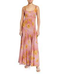 La Costa Del Algodón Edith Floral-print Nightgown - Pink