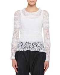 Isabel Marant - Yulia Long-sleeve Stretch Lace Sweater - Lyst