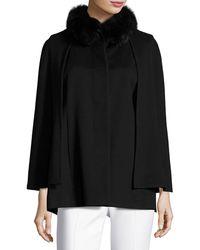 Sofia Cashmere | Mink Fur-trim Cashmere Capelet | Lyst