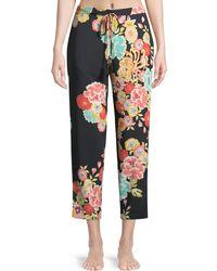 Natori - Saipan Floral-print Silk Lounge Trousers - Lyst