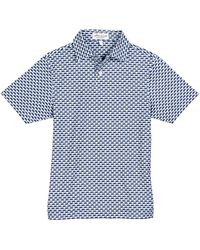 Peter Millar Stretch Jersey Motorcycle-print Polo Shirt - White