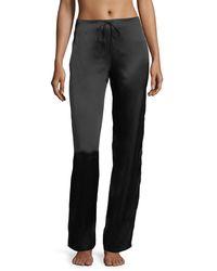 Lise Charmel Splendeur Silk Lounge Trousers - Black