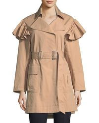 Rebecca Taylor | Cotton-faille Belted Trench Coat | Lyst