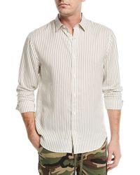 Vince - Vintage Striped Long-sleeve Shirt - Lyst