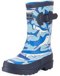 Joules - Shark Rubber Rain Boot - Lyst