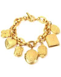 Ben-Amun Royal Locket Charm Bracelet - Metallic