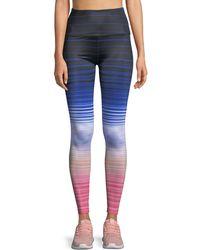 Beyond Yoga - Lux Striped High-waist Leggings - Lyst