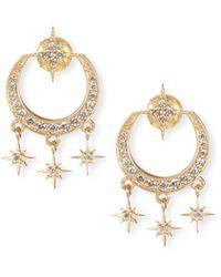 Sydney Evan - 14k Gold Diamond Starburst Chandelier Earrings - Lyst