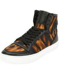 Versace - Men's Flame-pattern High-top Sneakers - Lyst