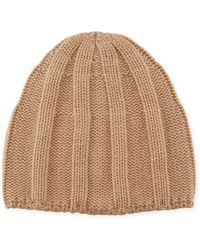 Brunello Cucinelli - Men's Cashmere Ribbed Beanie Hat - Lyst