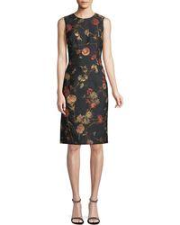Prabal Gurung - Sleeveless Floral Jacquard Sheath Dress - Lyst