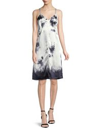 Helmut Lang Stain-print Sleeveless Slip Dress - Multicolor
