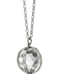 Monica Rich Kosann - Extra Large Silver Carpe Diem Pendant Necklace - Lyst