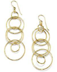 Ippolita Classico 18k Gold Jet Set Earrings - Metallic