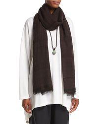 Eskandar | Two-tone Open Weave Cashmere Scarf | Lyst