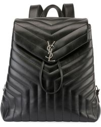 Saint Laurent - Loulou Monogram Medium Quilted Leather Backpack - Lyst