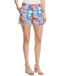 Le Sirenuse - Afrika Flat-front Shorts - Lyst