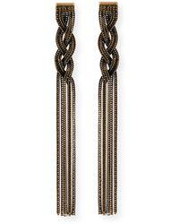Auden - Cordelia Fringe Chain Earrings - Lyst