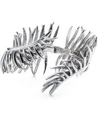 Eddie Borgo Pavé Frond Cuff Bracelet - Metallic