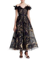 Marchesa A-line Gown - Black