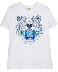 KENZO - Tiger Logo Print T-shirt - Lyst