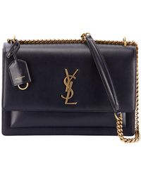 150642918fc3 Lyst - Saint Laurent Toy Ysl Cabas Bag In Black Leather in Black