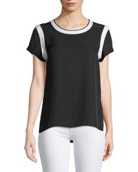 Rag & Bone - Nick Crewneck Tee With Contrast Trim - Lyst